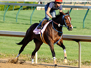 Jody Slew works at Churchill Downs on April 16, 2010.