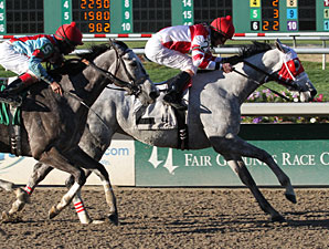 Joyful Victory wins the 2012 Tiffany Lass.