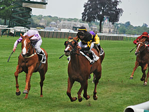Judy The Beauty, inside, wins the Prix Caravelle.