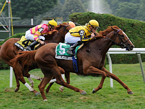Julie's Love wins the 2012 De La Rose Stakes.