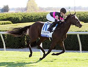 Kathmanblu wins the 2010 Jessamine Stakes.