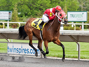 Kip Berries wins the 2013 Isaac Murphy Handicap.
