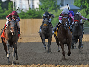 Last Gunfighter wins the 2013 Pimlico Special.