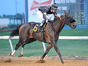 Lesley Be Judged wins the 2014 Muscogee (Creek) Nation Stakes