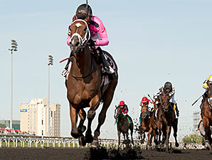 Lexie Lou wins the Woodbine Oaks.
