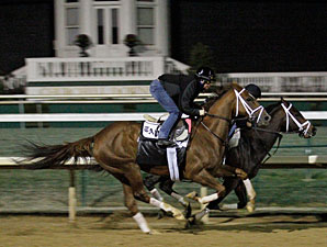 Life at Ten works at Churchill Downs on Oct. 30.