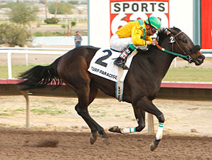 Lonesome Creek wins the 2009 Arizona Breeders' Futurity.