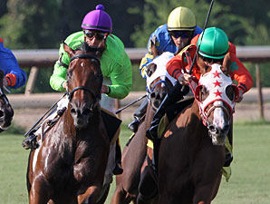 Look At the Time wins the 2012 A. L. (Red) Erwin Stakes.