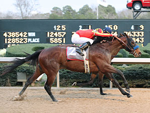 Lookin At Lucky wins the 2010 Rebel.