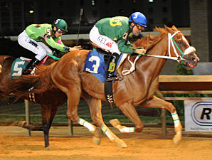 Lucy's Boby Boy wins the 2012 Robert G. Leavitt Stakes.