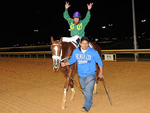 Lucy's Bob Boy wins the 2012 West Virginia Breeders' Classic.