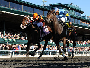 Luke of York wins the Keeneland 75th Anniversary Stakes.