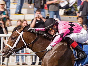 Major Gain wins the 2010 Arlington-Washington Futurity.