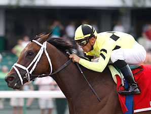 Malibu Prayer wins the 2010 Lighthouse Stakes.