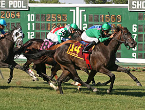 Maram wins the 2010 Miss Liberty Stakes.