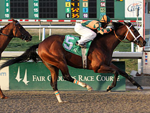 Mark Valeski wins an Allowance on January 13, 2012.