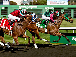 Marks Mine wins the 2014 Camilla Urso Stakes.