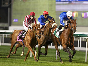Masteroftherolls wins the 2013 Meydan Hotel Trophy.