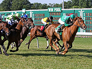 Medea wins the 2014 Eatontown Stakes.