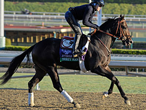 Merit Man works at Santa Anita 10/29/2012.