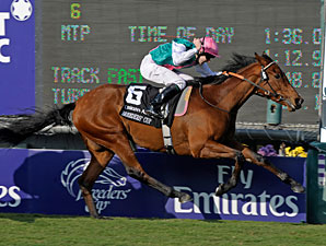 Midday wins the 2009 Breeders' Cup Filly & Mare Turf.