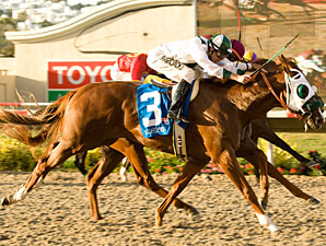 Midshipman takes the Del Mar Futurity by a nose over Coronet of a Baron.