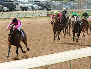 Miss Goodthing wins the 2012 Louisiana Cup Juvenile Fillies.
