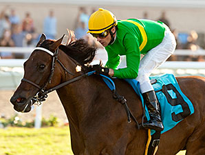 Miss Serendipity wins the Yellow Ribbon Stakes.