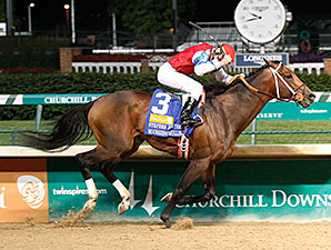 Moonshine Mullin wins the 2014 Stephen Foster Handicap.