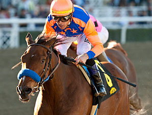 More Chocolate wins the La Canada Stakes.