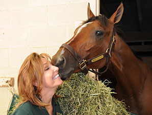 Mucho Macho Man with owner Patti Reeves.
