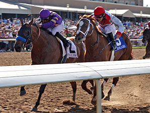 Mythical Power wins the 2010 Texas Mile.