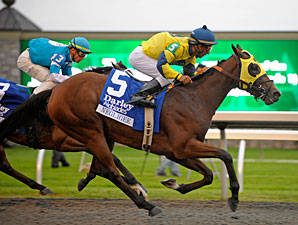 Negligee wins the 2009 Alcibiades.