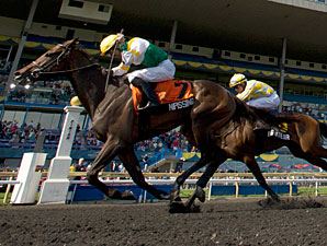 Nipissing wins the Woodbine Oaks.