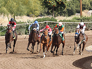 One More Wild Ride wins the 2014 Arizona Oaks.