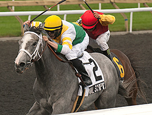 Original Script wins the 2013 Bison City Stakes.
