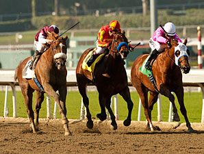 Out of Bounds wins the 2012 Sham.