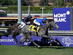 Outstrip wins the 2013 Breeders' Cup Juvenile Turf.