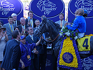 Outstrip wins the 2013 Breeders Cup Juvenile Turf