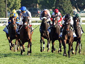 Overheard wins the 2013 Pin Oak Valley View.