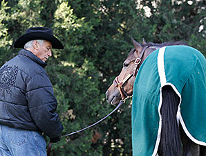 Oxbow and D. Wayne Lukas at Churchill Downs.