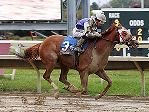 Page McKenney wins the 2014 First Responder Stakes.