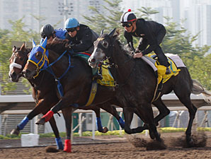 Pas de Trois (center) and Curren Chan (near), Hong Kong, December 7, 2011.