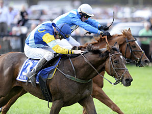 Pierrot Lunaire wins the 2012 Grand National Hurdle at Fair Hill.