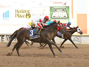 Politicallycorrect wins the Oaklahoma Derby.