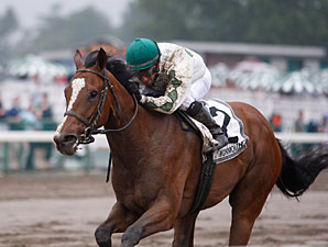 Pomeroys Pistol wins the 2011 Just Smashing Stakes.