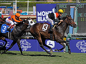 Pontchatrain with Gary Stevens wins the 2013 Ken Maddy Stakes
