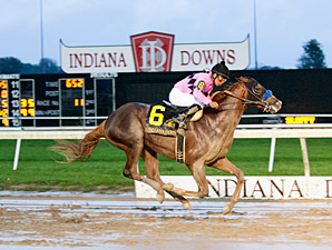 Power Broker wins the 2013 Indiana Derby.