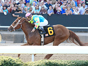 Primetime Dreamer wins the 2012 Rainbow Stakes.