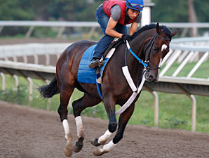 Rachel Alexandra gallops at Monmouth on July 21, 2010.